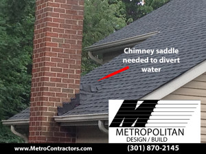 Chimney saddle Gaithersburg Roof