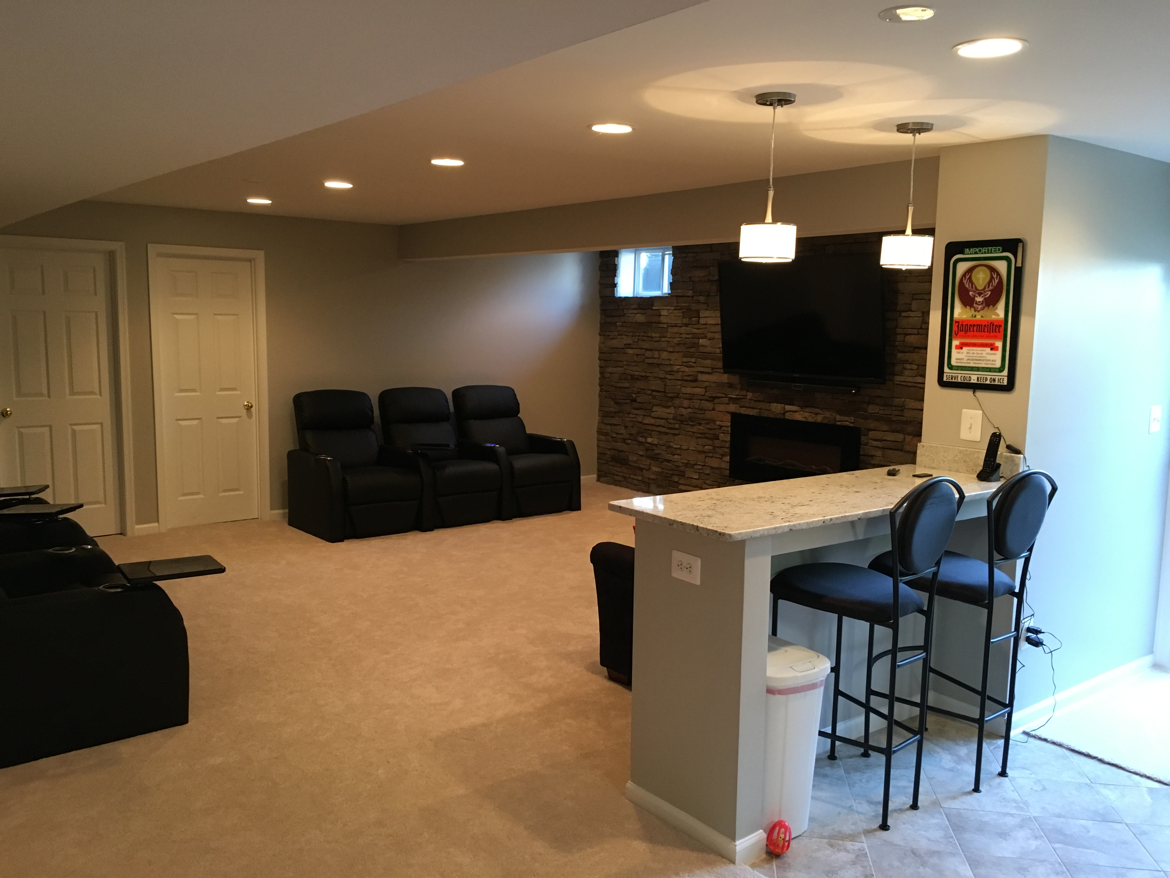 Charming Maryland Basement Remodeling Contractor Design Ideas