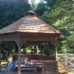 Gazebo after new cedar roof