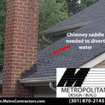 Chimney saddle Gaithersburg Roof