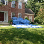 Gaithersburg roof installation & Shrub and ground protection